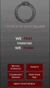 Saint Bearer app screenshot