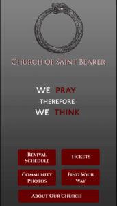 Saint Bearer app screenshot
